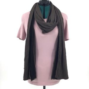 Chalet Taupe and Black Reversible Long Neck Scarf